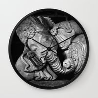 ganesha Wall Clocks featuring Ganesha by Falko Follert Art-FF77