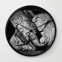 ganesha Wall Clocks featuring Ganesha by Falko Follert Art-FF77