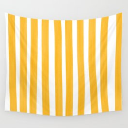 Sunny Yellow Paint Stripes Wall Tapestry