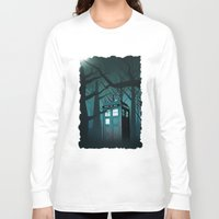 marauders Long Sleeve T-shirts featuring Tardis in the Forest of The Night by neutrone