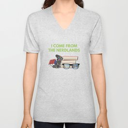 I Come From The Nerdlands Unisex V-Neck
