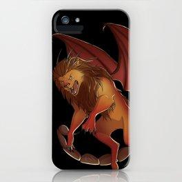 Mythical Creature: Manticore iPhone Case