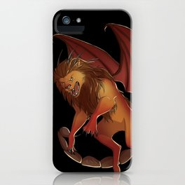 Mythical Creature: Manticore iPhone Case