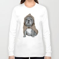 english bulldog Long Sleeve T-shirts featuring English Bulldog in Stonehenge by Barruf
