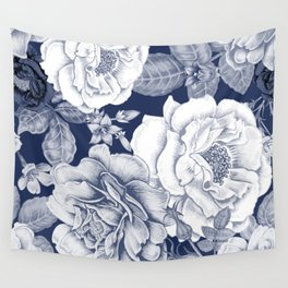BLUE NATURE - FLOWERS Wall Tapestry