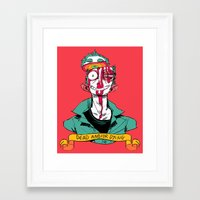 musa Framed Art Prints featuring dead and/or dying by musa
