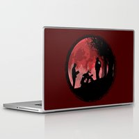 true detective Laptop & iPad Skins featuring True Detective - Horrors of life by kamonkey