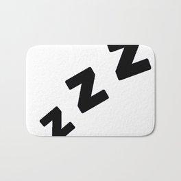 Zzzs in Black Bath Mat