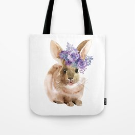 Little bunny in Wreath Tote Bag