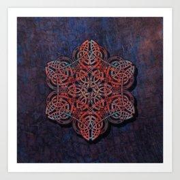Distressed Metal Celtic Design Art Print