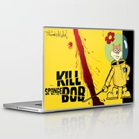 spongebob Laptop & iPad Skins featuring Kill Spongebob by thunderbloke!