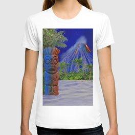 Tiki Art Background T-shirt