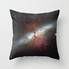 Messier 82 Throw Pillow