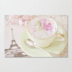 Paris Tea Canvas Print