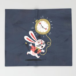 White Rabbit - Alice in Wonderland Throw Blanket