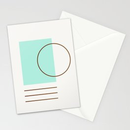 Balm 04 // ABSTRACT GEOMETRY MINIMALIST ILLUSTRATION by Stationery Cards