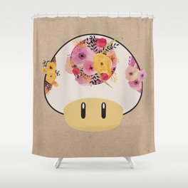 Mushroom in Bloom Shower Curtain