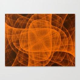 Fractal Eternal Rounded Cross in Orange-Brown Canvas Print