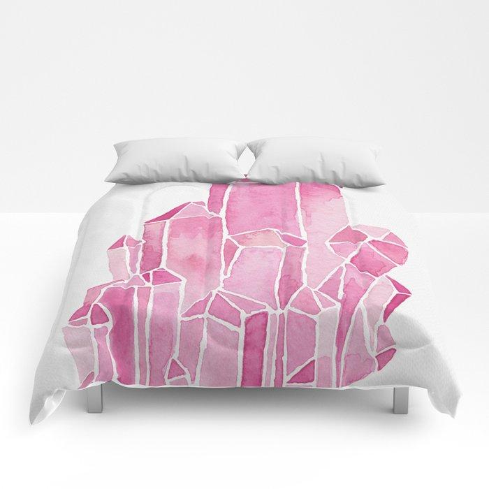Rose Quartz Watercolor Comforters