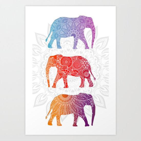 Elephantz II Art Print