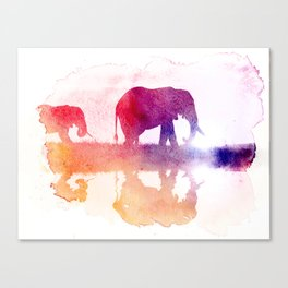 Watercolor Wildlife Canvas Print