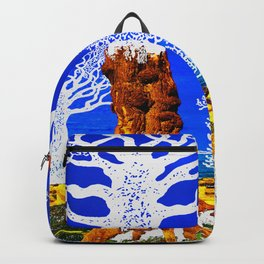 If A Tree Falls In Sicily White Backpack