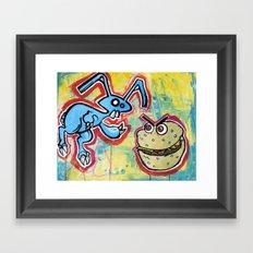 Bunny Burgers Framed Art Print