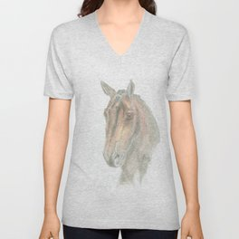 Wonderful dressage horse portrait Unisex V-Neck