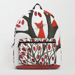 Red Oak Whimsical Cats in Tree Backpack