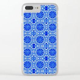 Sapphire Blue Star Clear iPhone Case