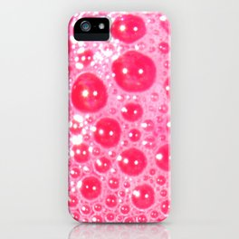 Red Bubbles iPhone Case