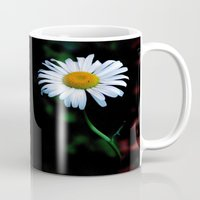 jewish Mugs featuring A daisy a day keeps the blues away by Brown Eyed Lady