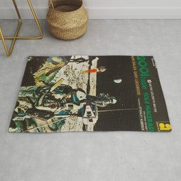 2001 A Space Odyssey 1968 Turkish Lobby Broadside Vintage Film Poster Rug