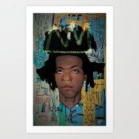 basquiat Art Prints featuring Basquiat by Elton Leonard Jr.