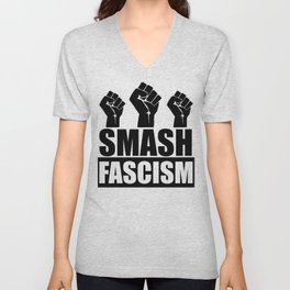SMASH FASCISM Unisex V-Neck