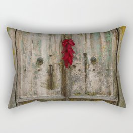 Old Ristra Door Rectangular Pillow
