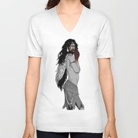 princess mononoke V-neck T-shirts featuring princess mononoke by Nioko
