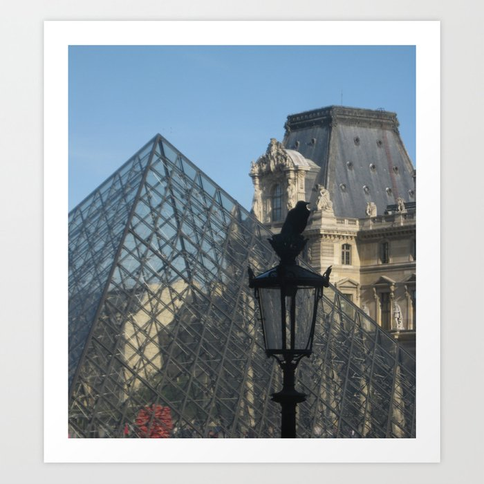 The Raven and The Louvre Art Print