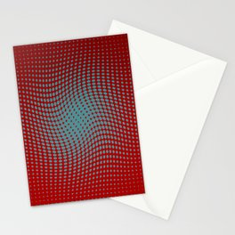 Polka dots with a twist (red) Stationery Cards