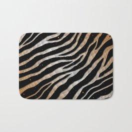 Ripped SpaceTime Stripes - Bronze/White Bath Mat