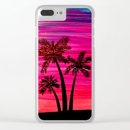 Palm Trio Clear iPhone Case
