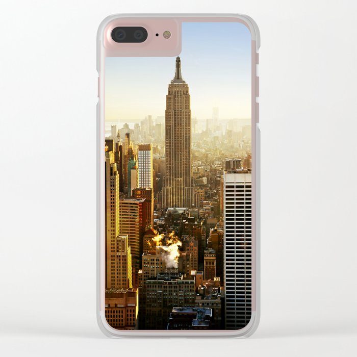 New York City Sunshine Clear iPhone Case