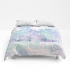 Pastel modern purple lavender hand painted watercolor wash Comforters