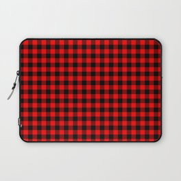 Mini Red and Black Coutry Buffalo Plaid Check Laptop Sleeve