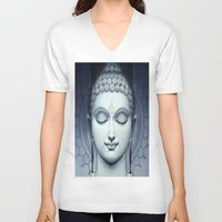 buddah V-neck T-shirts featuring BUDDAH by I Love Decor