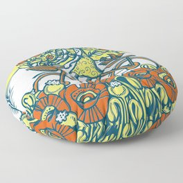 Bike Blossoms Floor Pillow