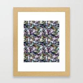 Renaissance Cherub Toss in Jewel Tones Framed Art Print