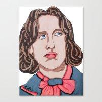 oscar wilde Canvas Prints featuring Oscar Wilde by Emma Brutman