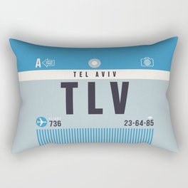 Baggage Tag A - TLV Tel Aviv Israel Rectangular Pillow