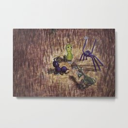 Bugs at Play Metal Print